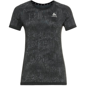 Odlo Blackcomb Pro Crew Neck T-shirt Dames, black melange